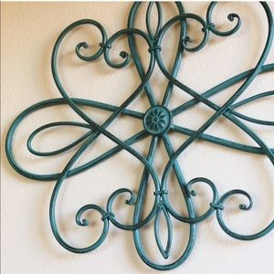 Other - Turquoise Rod Iron Wall Decor